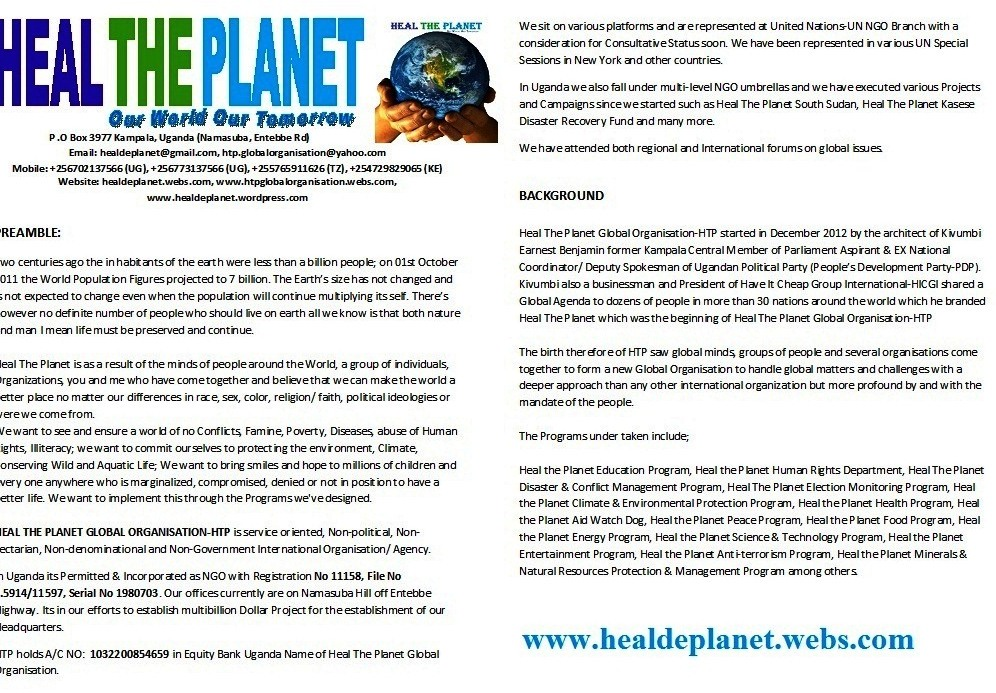 About Heal The Planet Global Organisation-HTP
